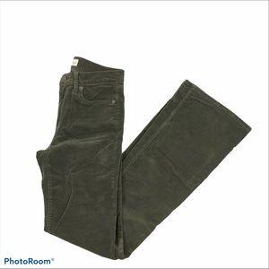 Gap Perfect Boot Army Green Corduroy Pants 26R
